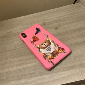 MOSCHINO PINK IPHONE X/XS MAX PHONE CASE